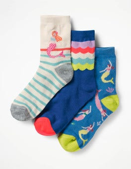 Mermaids 3 Pack Socks