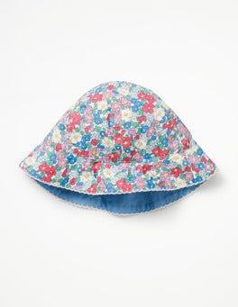 Multi Vintage Floral Pretty Woven Hat
