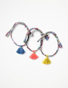 Pink Vintage Floral 3 Pack Bracelets