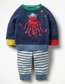 Beacon Blue Octopus Octopus Knitted Play Set