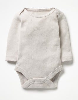Shale Grey Supersoft Pointelle Body