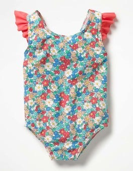 Oasis Blue Vintage Floral Baby Swimsuit