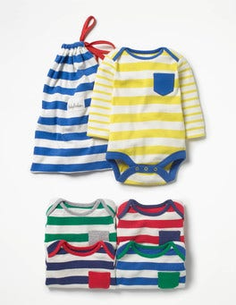 Multi Stripes 5 Pack Stripy Bodies