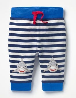 Ecru/Beacon Blue Sharks Fun Jersey Trousers