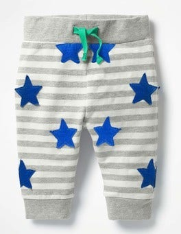 Ecru/Grey Marl Stars Fun Jersey Trousers