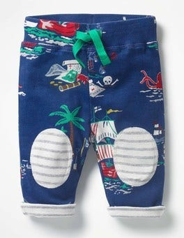 Beacon Blue Pirate Scene Reversible Knee Patch Pants