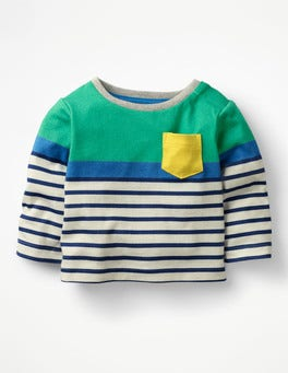 Astro Green/Multi Stripes Fun Breton T-shirt