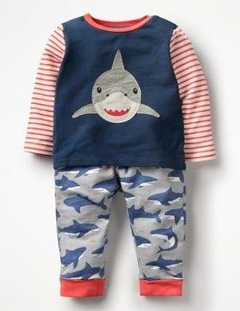 Beacon Blue Shark Animal Jersey Play Set