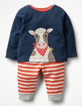 Beacon Blue Cow Animal Jersey Play Set