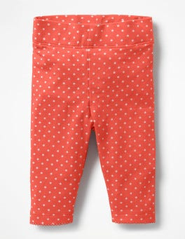 Melon Crush Orange Pin Spots Baby Leggings