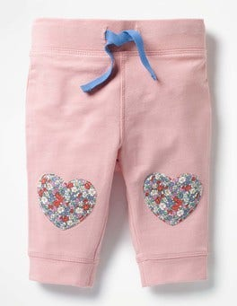 Provence Dusty Pink Hearts Fun Knee Leggings