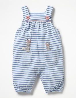 Ecru/Etoile Blue Bunnies Jersey Dungarees