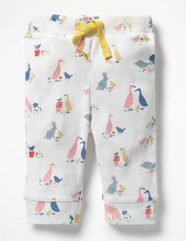 Farmyard Animals Printed Ribbed Leggings