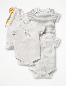 Ivory Farmyard 3 Pack Unisex Bodies