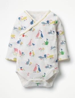 Farmyard Animals Printed Wrap Body