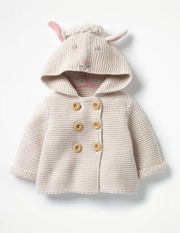 Ecru Marl Lamb Novelty Knitted Jacket