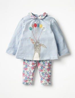 Ecru/Etoile Blue Bunny Animal Jersey Play Set