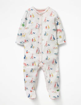 Farmyard Animals Pretty Printed Sleepsuit