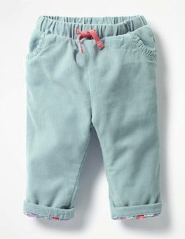 Dover Sky Blue Heart Pocket Cord Trousers