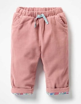 Blossom Pink Heart Pocket Cord Trousers