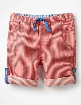 Salsa Red Ticking Stripe Roll-up Pants