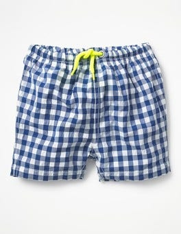 Orion Blue Gingham Baby Bathers