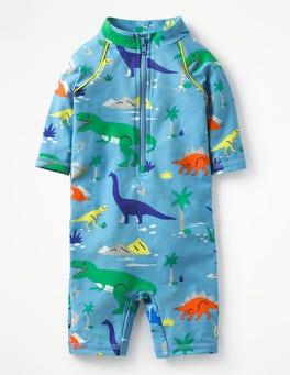 Grotto Blue Baby Dino Animal Surf Suit