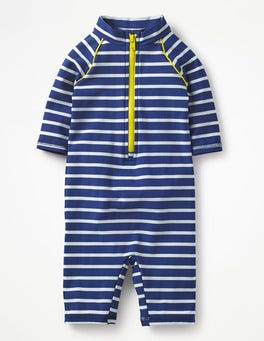 Deep Sea/Ivory Stripe Animal Surf Suit
