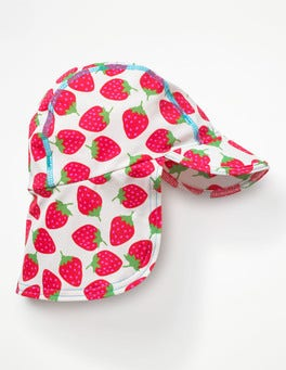 Ivory Sweet Strawberries Pretty Swim Hat