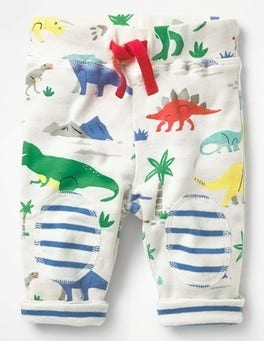 Multi Baby Dino Reversible Knee Patch Pants
