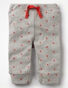 Grey Marl/Crayon Red Stars Fun Ribbed Leggings
