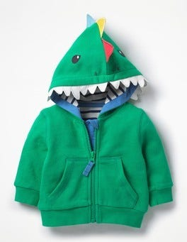 Astro Green/ Dinosaur Novelty Zip-up Hoodie