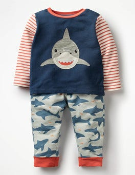 Beacon Blue Shark Animal Jersey Play Set