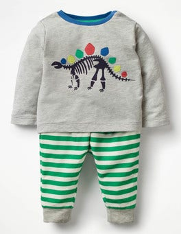 Grey Marl Dinosaur Animal Jersey Play Set