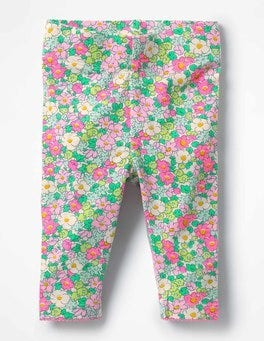 Knockout Pink Vintage Floral Baby Leggings