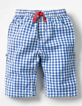 Skipper Blue Gingham Roll-up Trousers