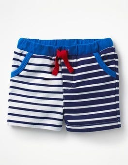 Beacon Blue/Ivory Jersey Shorts