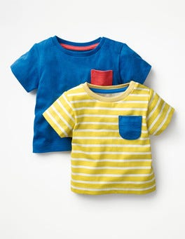 Sweetcorn/ Ivory Pack Twin Pack Colourful T-shirts