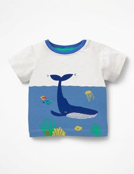 Ivory Underwater Scene Animal Explorer T-shirt