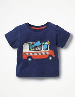 Beacon Blue Ice Cream Van Peekaboo T-shirt