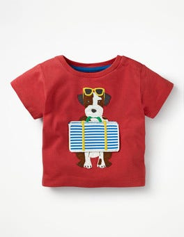 Crayon Red Suitcase Sprout Peekaboo T-shirt