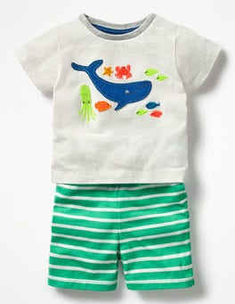 Ivory/Underwater Fish Fun Jersey Play Set