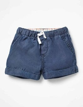 Chambray Woven Explorer Shorts