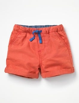 Crayon Red Woven Explorer Shorts