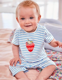 Twin Pack Strawberry Rompers