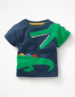 Beacon Blue Crocodile Novelty T-shirt