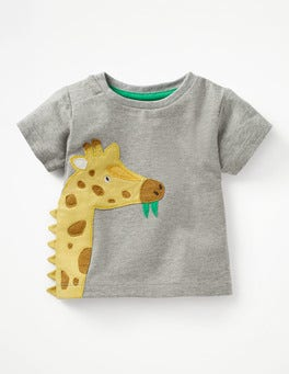 Grey Marl Giraffe Novelty T-shirt