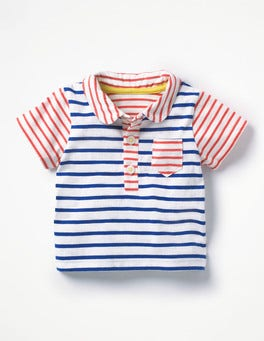 Crayon Red/Skipper Blue Fun Polo Shirt