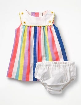 Candy Stripe Rainbow Sailor Dress