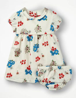 Multi Baby Vintage Posey Printed Occasion Dress